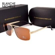 HD ретро поляризованные солнцезащитные очки мужские дизайнерские UV400 Солнцезащитные очки мужские солнцезащитные очки для вождения s 2020 винтажные прямоугольные очки с коробкой sunglasses men sun glasses man sunglass