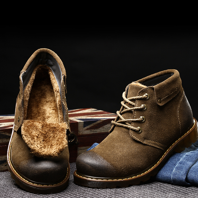 Aliexpress.com : Buy Mens Winter Boots 2016 Best Quality Genuine ...