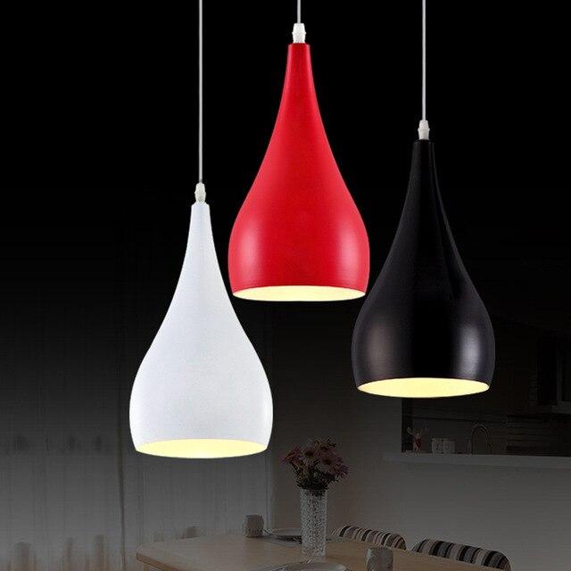 Fashion personality single-head bar counter pendant light aluminum light dining room lamp E27 candle light 85-265V