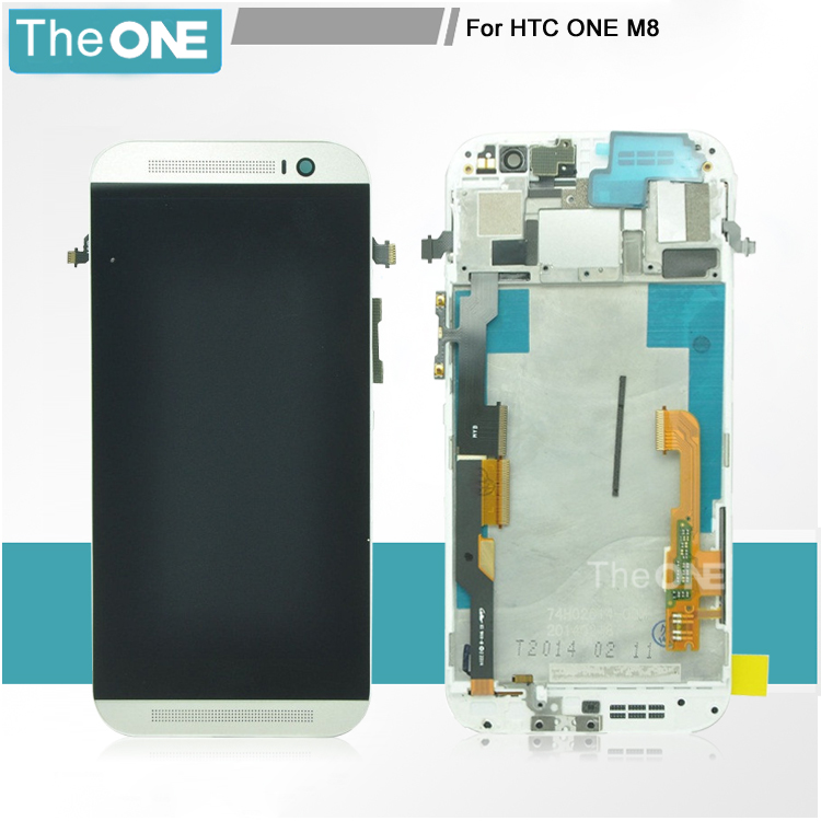 Подробнее о DHL Free 100% Tested For HTC One M8 LCD Display With Touch Screen Digitizer frame Assembly Replacement white gold grey silver black white color for htc one m8 1pc lot lcd display touch screen digitizer with frame replacement free shipping
