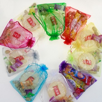 500pcs Wholesale 10*15cm Drawstring Organza Jewelry Bags & Pouch Wedding and Christmas Gift Candy and Snack Packaging bags B143
