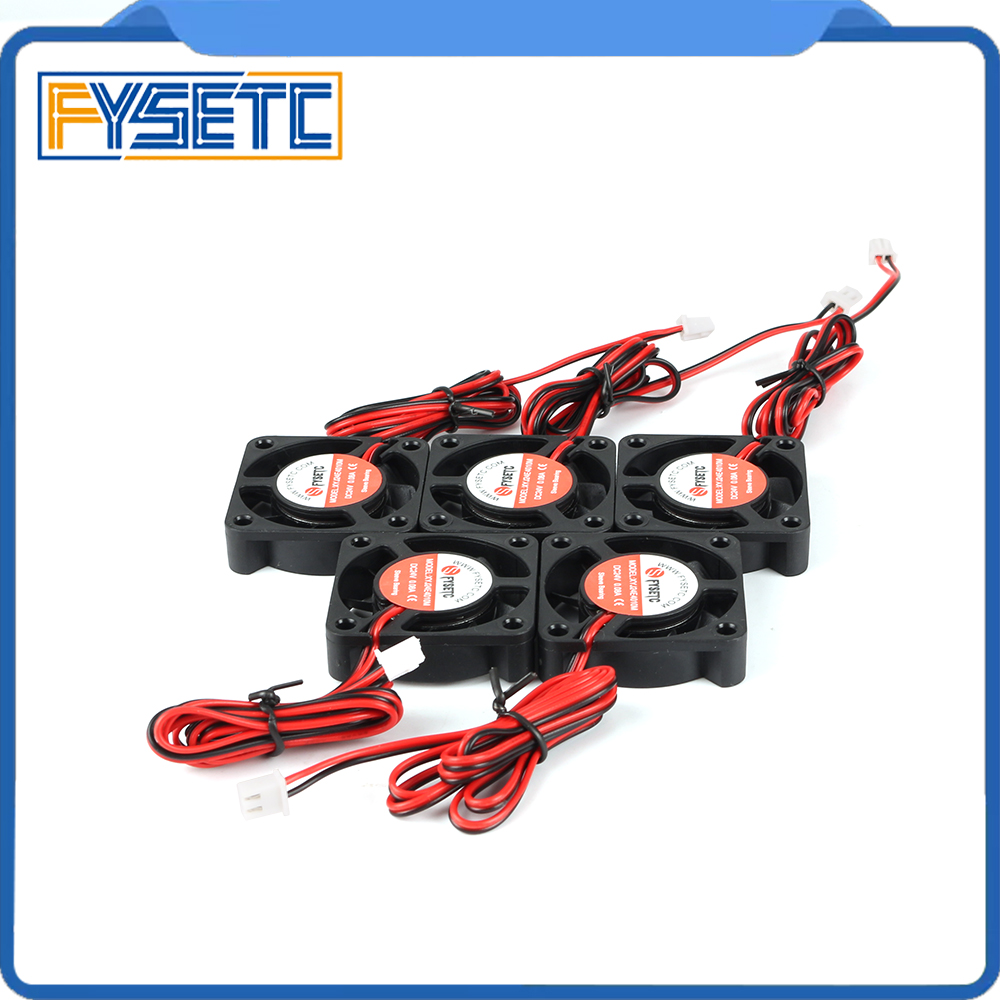 5pcs 3D Printer Parts DC 24V 4010 Cooling Fan 0.08A Hydraulic Bearing Cooler Radiator Sleeve Super Silent For Creality Ender-3