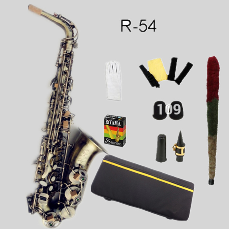 2018 High Quality Copy 95% Custom Selme R-54 Sax Alto Saxophone Antique Copper Saxophone Brass Instruments E Flat Sax With Case