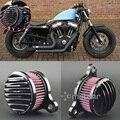 Negro CNC encargo Rough artesanía filtro aire para 2004-2014 Harley Sportster 883 04-14 XL 1200