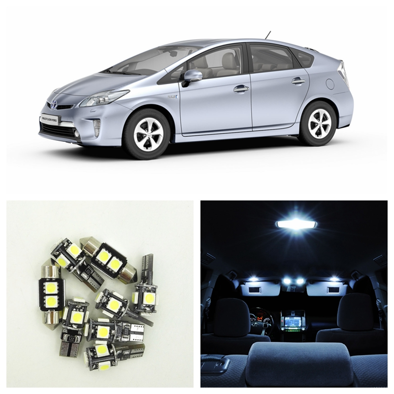 11Pcs White Map Dome Trunk License Plate LED Light Interior Package Deal Kit For 2004-2015 Toyota Prius Toyota-B-08 shanghai chun shu chunz chun leveled kp1000a 1600v convex plate scr thyristors package mail