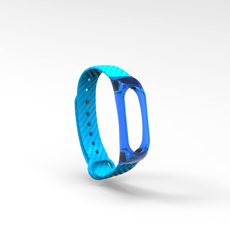 HANGRUI Crystal Plastic+Carbon Fiber silicon strap For xiaomi Mi band 2 Smart Wrist Bracelet Extended plus Strap Replacement  (8)