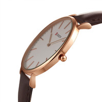 2015 New CURREN Watches Luxury Brand Leather Strap Watch For Men Women Ultra Thin Quartz Analog