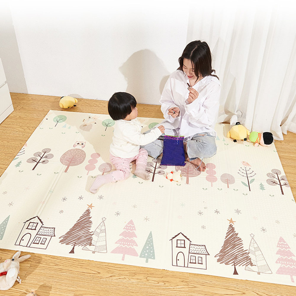 Portable Foldable Baby Climbing Pad Baby Play Mat Foam Pad XPE Environmental Tasteless Parlor Game Blanket 200*180*1cm