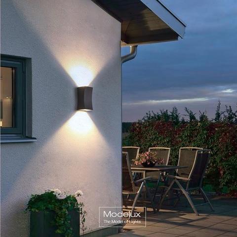 jardim ao ar livre lampada de parede