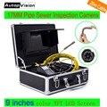 WP90 6.5/17/23mm profesional endoscopio industrial 9 ''LCD 20 m inspección de tuberías cable del sistema de la cámara alcantarillado serpiente cámara de vídeo