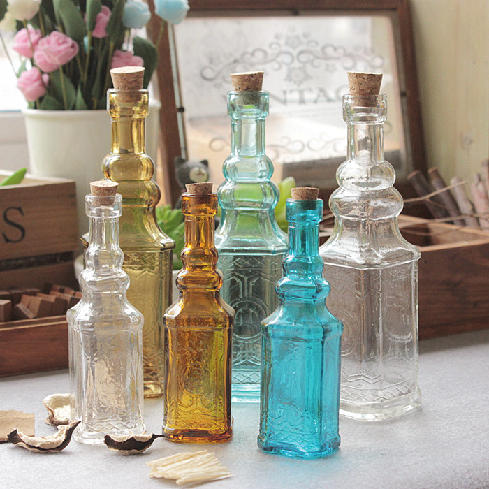 Aliexpress Com Buy Small Vintage Carved Glass Vase Tower Vase For Home Decoration Photo Prop