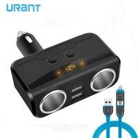 URANT Universel Double USB Voiture chargeur De Voiture Cigarette Allume Socket Splitter Power Adapter DC 12 V 3.1A Double USB De Voiture chargeur