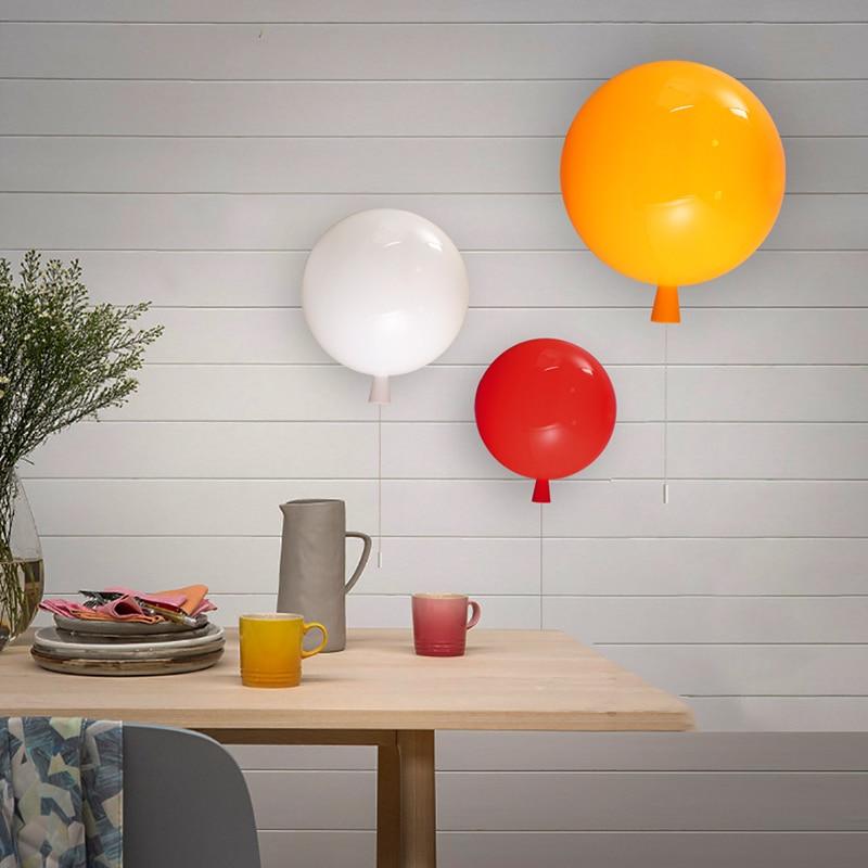 Svjetiljke za balone Djeca Zidne svjetiljke Povucite Prekidač - Unutarnja rasvjeta - Foto 4