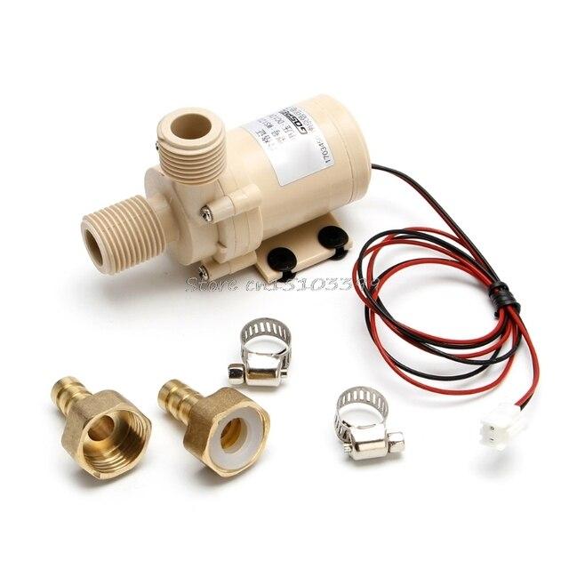 שמש משאבת 12V DC חם מים משאבת 3M זרימת Pompe Brushless מנוע גבוהה לחץ משאבת מזון כיתה משאבת G25 DropShip