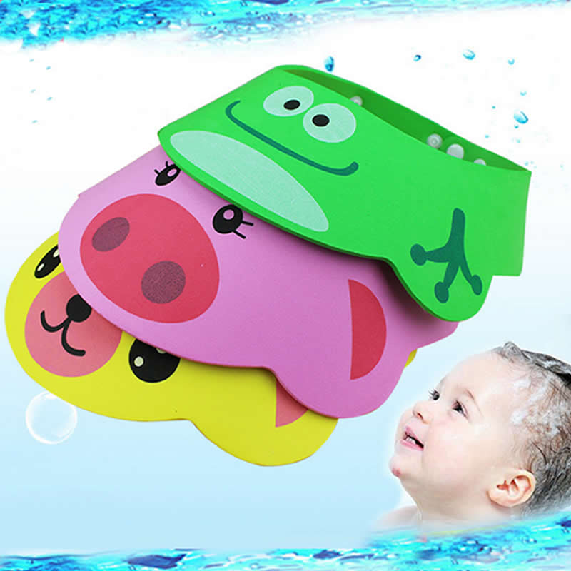 New Adjustable Baby <font><b>Kids</b></font> <font><b>Shampoo</b></font> <font><b>Bath</b></font> Baby <font><b>Bathing</b></font> <font><b>Shower</b></font> <font><b>Cap</b></font> <font><b>Hat</b></font> <font><b>Wash</b></font> <font><b>Hair</b></font> Shield With Ear Wholesale image