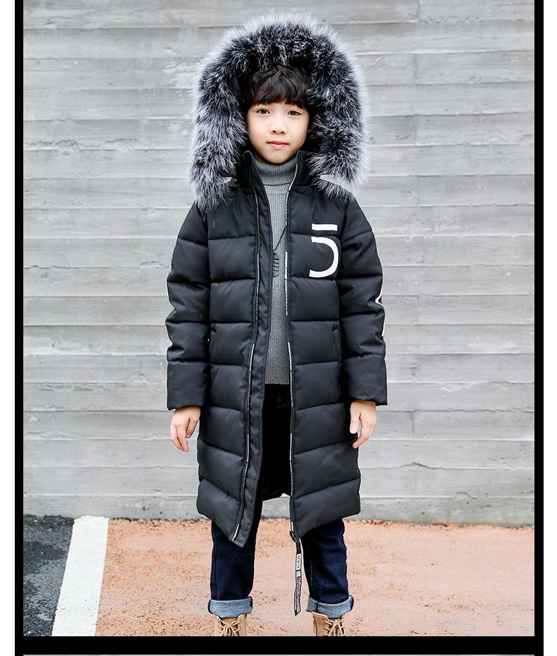 06a7102c2608 Winter Thicken Windproof Warm Kids Coat Waterproof Children ...