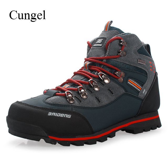 cungel Outdoor Sneakers men Hiking Shoes breathable waterproof Leather Boots Outdoor Shoes trekking shoes moutain climbing