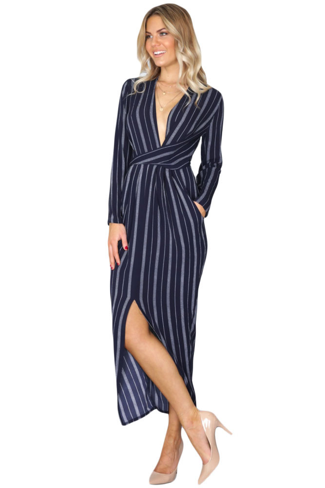Ankle Length Wrap Dress