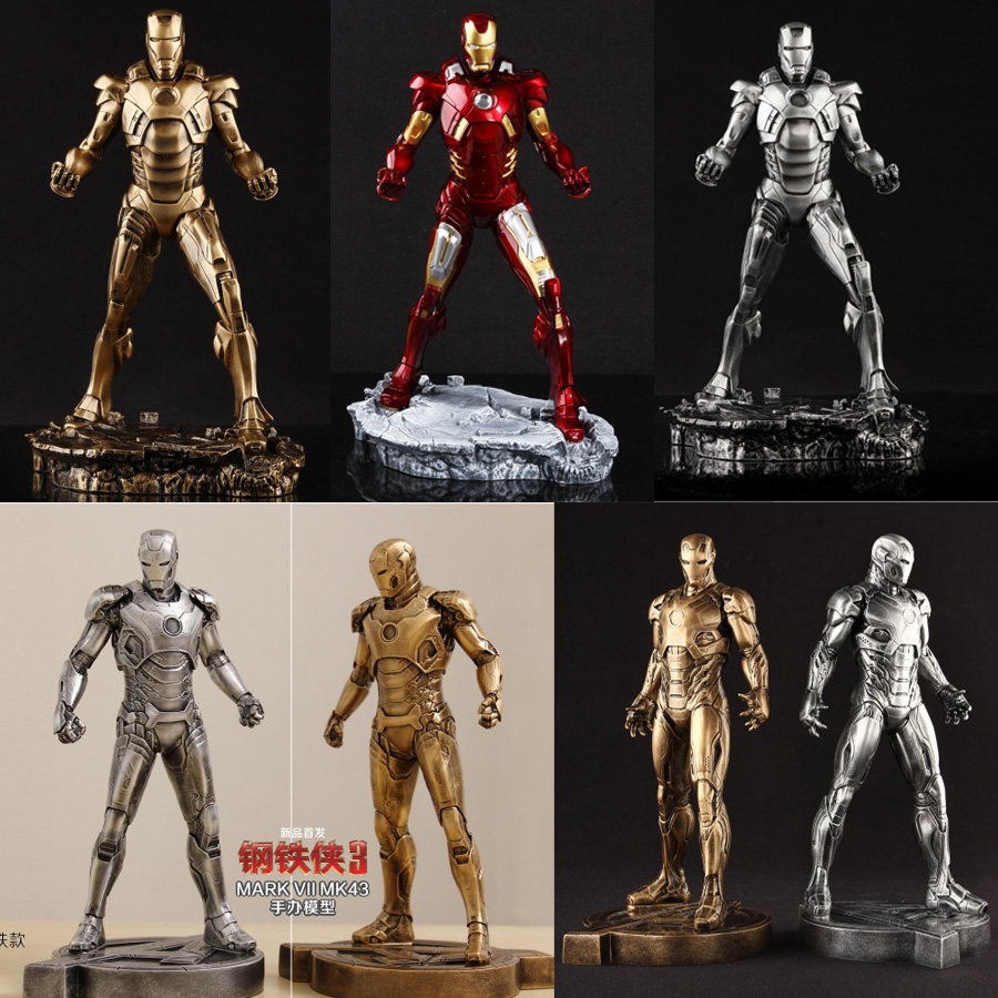 1/6 Scale 30cm The Avengers Iron Man markVII MK7 MARK43 Mark XLV MK 45 Resin Statue Action Figure Collectible Model Toy marvel iron man mark 43 pvc action figure collectible model toy 7 18cm kt027