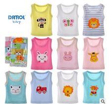 2016 5pcs/lot Boys Girls T shirt Tops baby Tees Baby Girl boy sleeveless T-shirts Cartoon Cute Blouse Roupas menino menina