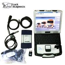 Lkw diagnose werkzeug für daf davie 560 mit cf52 laptop DAF MUX DAF XDcII interface