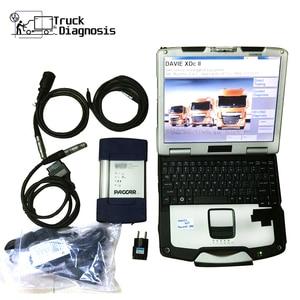 Image 1 - 트럭 진단 도구 daf davie 560 cf52 노트북 DAF MUX DAF XDcII 인터페이스