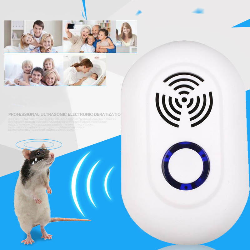 100V-220V Ultrasound Electronic Ultrasonic Mouse Killer Pests Insect Mice Repeller Traper Rat Pest Control ...