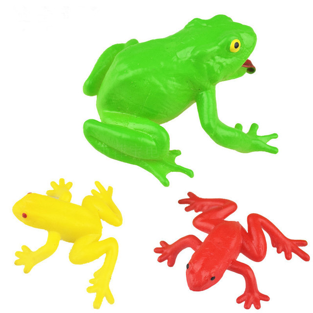 5pcslot novelty halloween gift tricky funny spoof toys simulation soft scary fake frogs horror