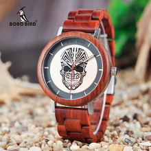 BOBO BIRD Timepieces Menns Wooden Watches Fashion Wood Nytt Design Quartz Armbåndsur Godta LOGO og DROP SHIPPING