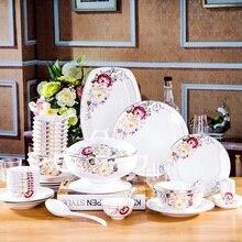 Jingdezhen bone china porcelain 60 PIECES bone china tableware set Dish Set bowl dish cove