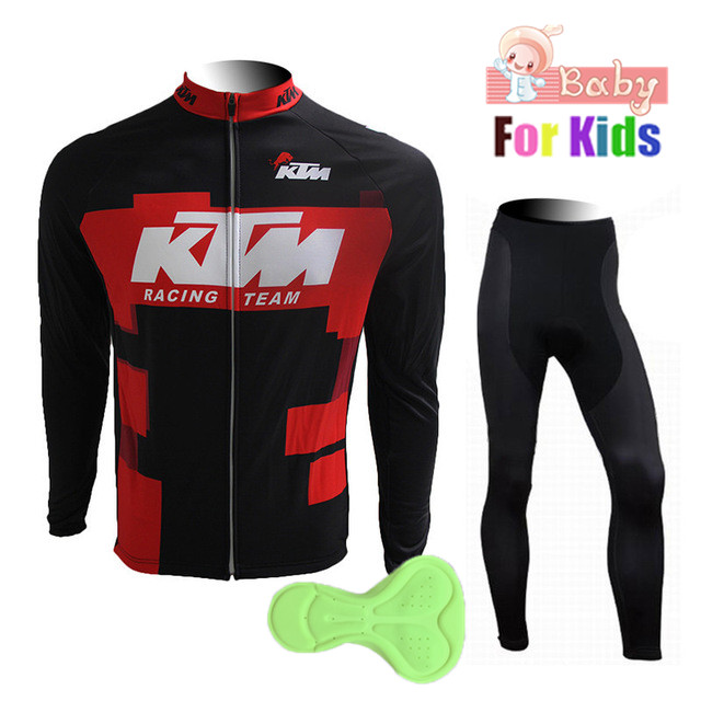 2018 Team KTM Children's Long Ropa Ciclismo Kids Cycling Jerseys/Autumn Mountian Bicycle Clothing/MTB Bike Clothes Boys Girls цена