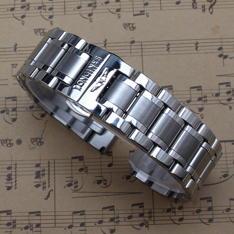 14mm 16mm 17mm 18mm 19mm 20mm 21mm High Quality Stainless steel Metal Watchbands Silver And Gold color bracelets free tools