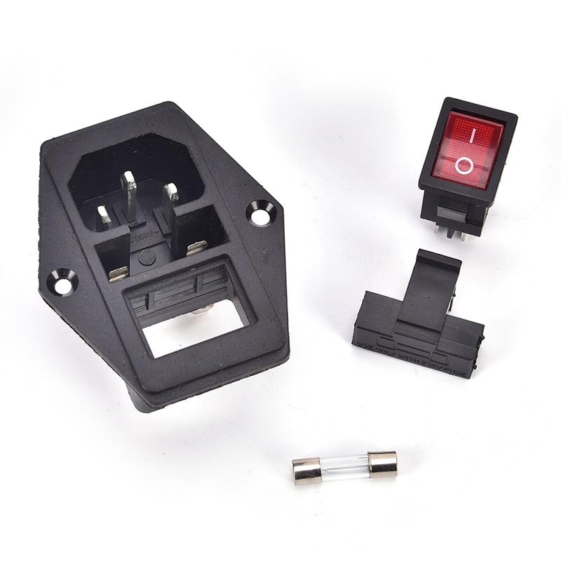 alimentación Conector de alimentación con interruptor y fusible