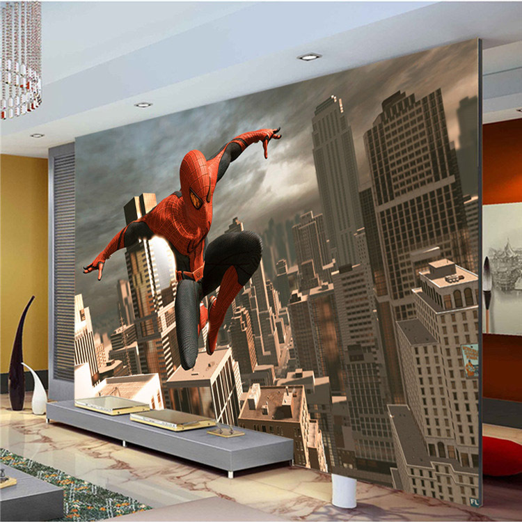 US $22.0  Spiderman murals 3D boys bedroom,sofa,living room wallpaper  carton wallpaper-in Wallpapers from Home Improvement on Aliexpress.com    Alibaba ...