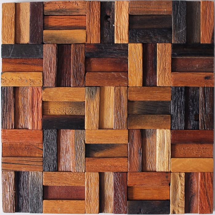 Genial Natural Wood Backsplash Wood Tile Wall Decor Strip Pattern Ancient Ship  Wooden Mosaic Tiles Bar Tiles HME4042, Free Shipping In Wall Stickers From  Home ...