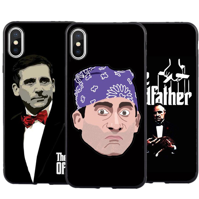 new concept a7460 99ef4 US $0.85 21% OFF Godfather Michael Scott Phone Case For iPhone XS MAX XR  The Office Silicone Cover For iPhone X 7 7Plus 8 Plus 6 6s Plus 5 5S SE-in  ...
