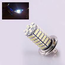 Par lâmpadas led h7 led 6500k 120 leds-efeito turbo carro preto luz farol lampada
