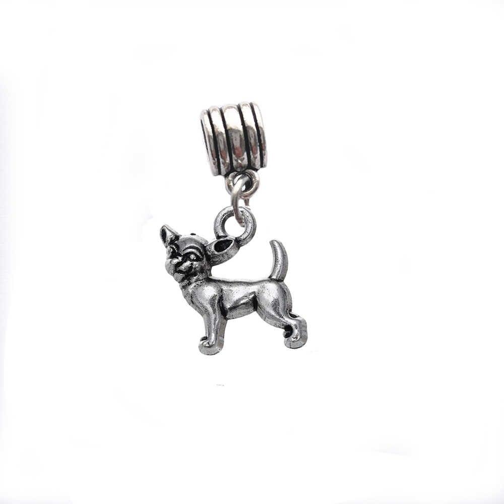 Skyrim смешанные собаки/кости/лапы бисер с принтом подходят амулеты античный серебряный металлический цинковый сплав DIY Висячие разделители Бисер Подарок