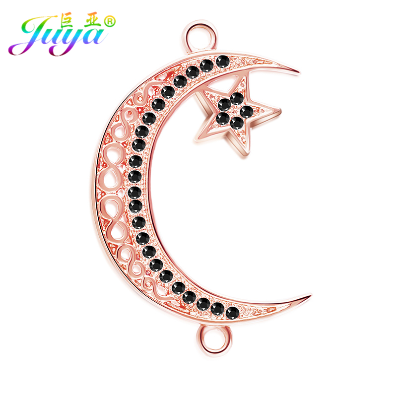 DIY Jewelry Components Supplies Crescent Islamic Allah Moonship Connector Charm Accessories For Muslim Earrings Bracelets Making