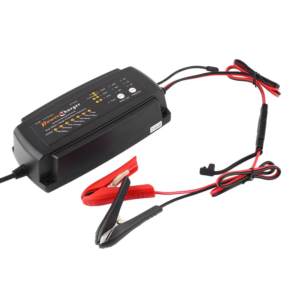 New 7 Stage 12V Lead Acid High Power Intelligent Automatic Smart Battery Charger Desulfactor Maintainer AGM GEL SLA Battery кошелек tony perotti кошелек