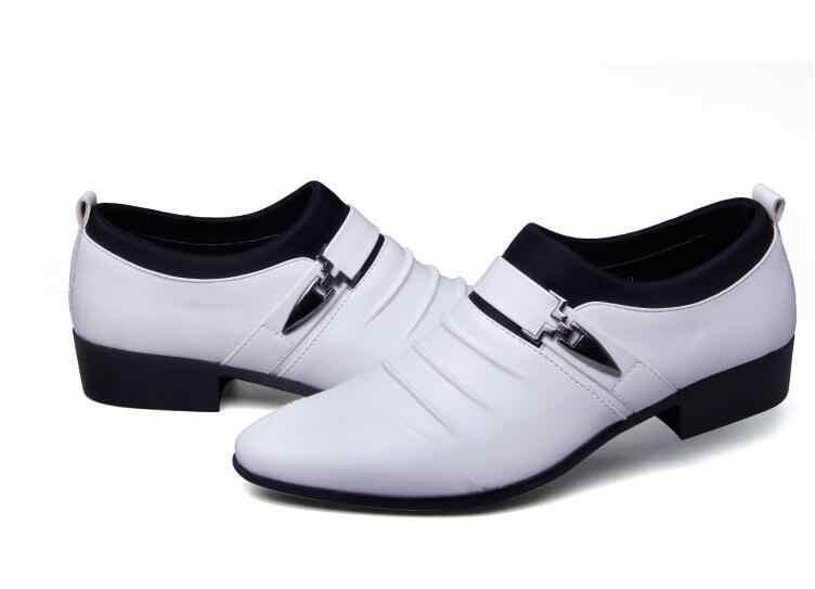 Роскошные кожаные мужские официальная обувь модельные туфли модные оксфорды Бизнес дизайн свадебные туфли оксфорды для мужчин
