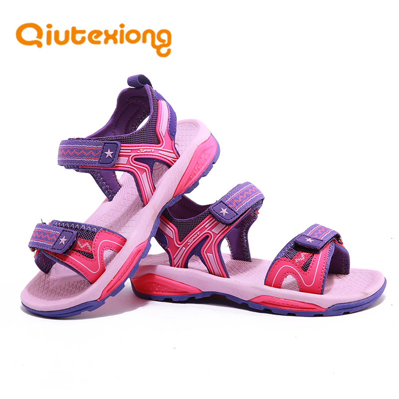 QIUTEXIONG Beach Kids Sandals Girls Summer Shoes Boys Sandals Children Shoes Open-Toe Casual School Breathable Sport Leather collins russian gem dictionary