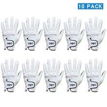 Pack of 10 Pcs Mens Golf Gloves Wear on Left Hand Gloves Soft Breathable Pure Sheepskin slip resistant design