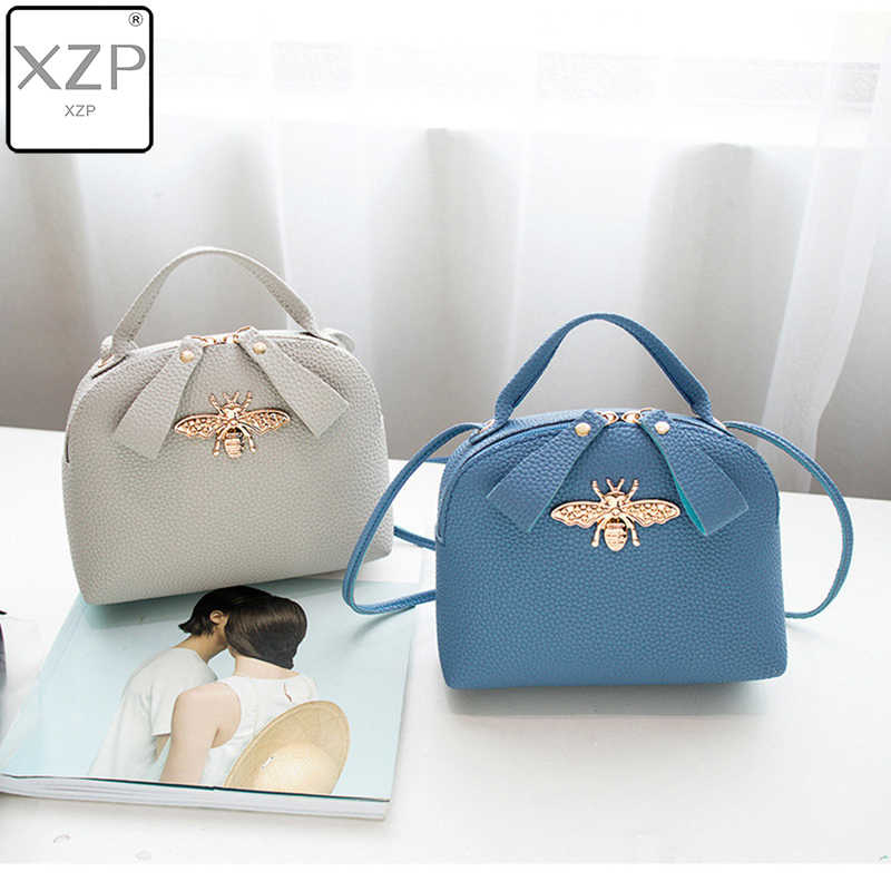 XZP 2019 Fashion Vrouwen Schoudertassen PU Lederen Tas Luxe Handtassen Vrouwen Tassen Bee Designer Dames Messenger Bags Bolsa Feminina