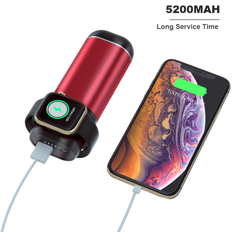 Image 2 - 5200mah Power Bank Wireless Charger for Airpods Apple Watch  Series iWatch 1 2 3 4 External Battery Charger for iPhone SamsungMobile  Phone Chargers