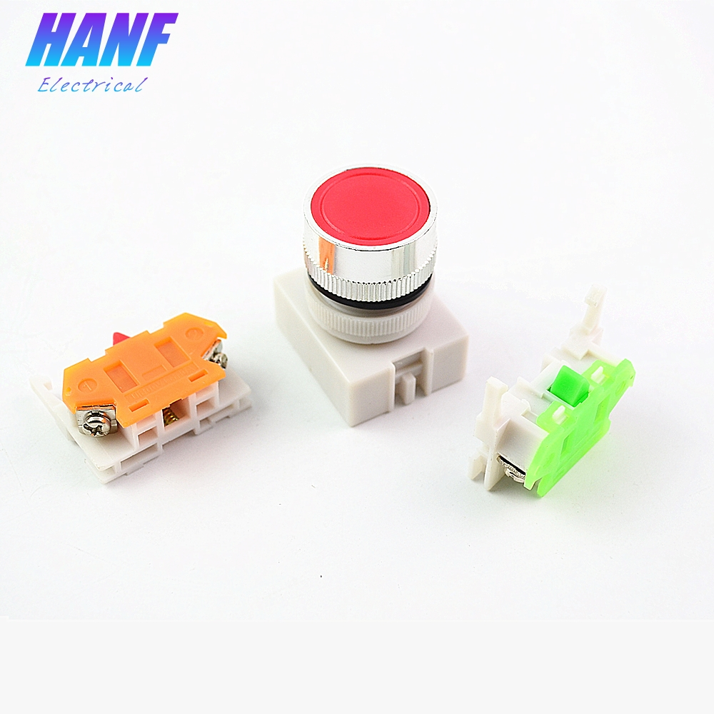22mm Mount 10A AC600V 1NO 1NC DPST Momentary Push Button Switch Waterproof