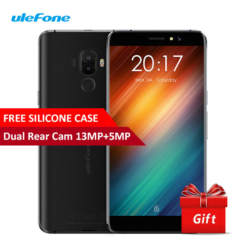 bilder für Ulefone S8 Dual Echt Kameras Smartphone 5,3 Zoll Android 7.0 MT6580 Quad Core 13MP + 5MP 3000 mAh Fingerabdruck 3G WCDMA handy