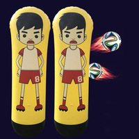 1.6m Inflatable Football Training Goal Keeper Column Stand Tumbler Soccer Train Dummy for Kid Adult ALS88
