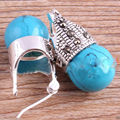 Hot selling free shipping******** Vintage Marcasite 12mm Blue Turquoise 925 Sterling Silver Stud Earrings