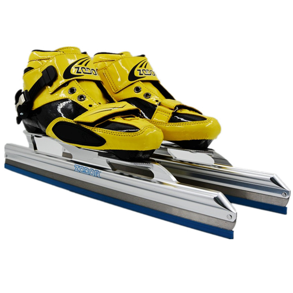 Japy Carbon / Fiberglass Speed Ice Blade Skating Shoes Metal Fix Location Knife Racing Skates Comfortable Patines Sneakers J002